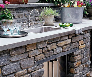 summer, outdoor dining, and outdoor kitchen image
