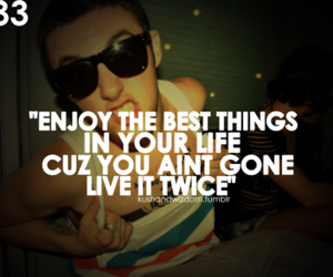 quote, life, and mac miller image
