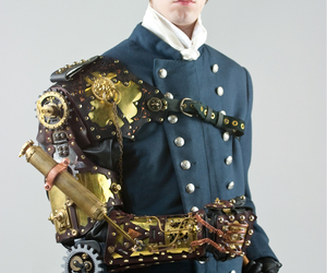 arm, clothing, and steampunk image