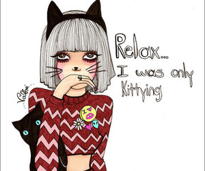 valfre, cat, and girl image