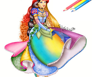 princess, disney, and drawing image