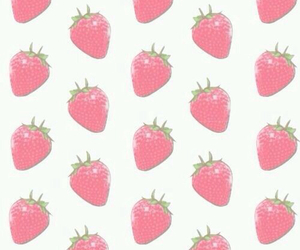 strawberry, pink, and background image