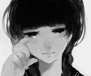 anime, sad, and anime girl image