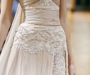 dress, haute couture, and wedding dress image