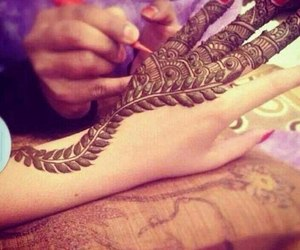 henna, arabic, and mehndi image