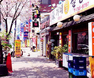 korea, city, and japan image