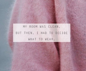 clothes, quote, and room image