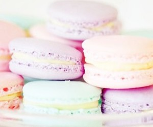 pastel, food, and macaroons image