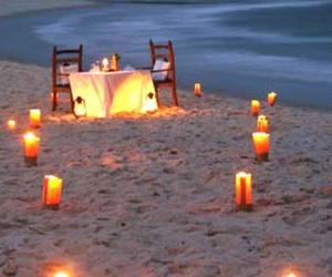 beach, light, and romantic image