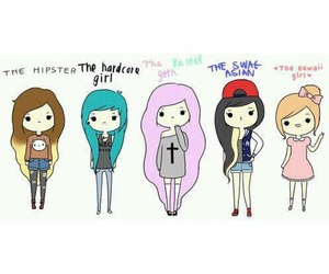 the hipster, the pastel goth, and the hardcore girl image