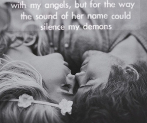 angels, black and white, and hipster image