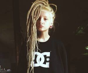 girl, blonde, and dreads image