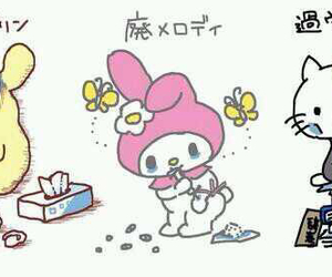 hello kitty, my melody, and sanrio image