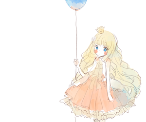 anime, anime girl, and balloon image