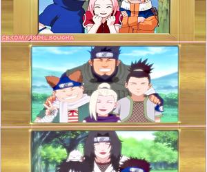 hinata, shikamaru, and choji image