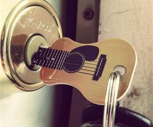 guitar, key, and music image