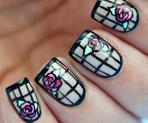 art deco, nail art, and nail polish image