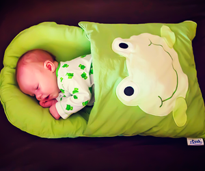 baby and frog image