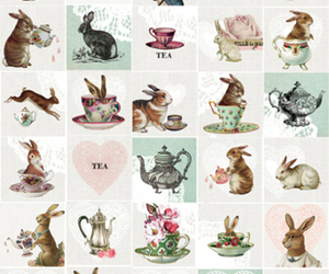 bunny, rabbit, and tea image