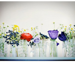 flowers and glass image