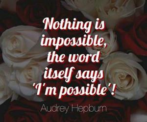 audrey hepburn, impossible, and motivation image