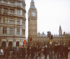 london, Big Ben, and people image
