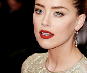 amber heard, dress, and gold image