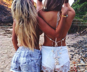 summer, girl, and friends image