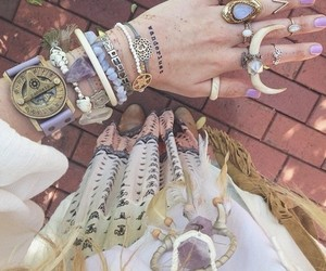 rings, hippie, and bracelet image
