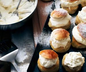 food, dessert, and cream image