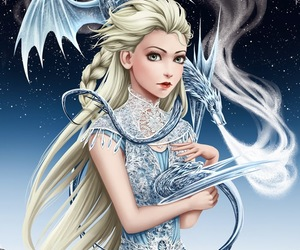 blonde, ice, and elsa image