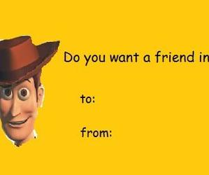 toy story, valentine cards, and woody image