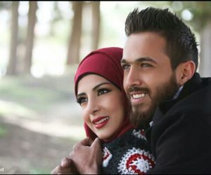hijab, partners, and winter image