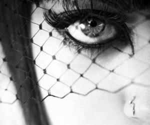 black, black and white, and eyes image