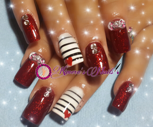 color, glitter, and acrylic nails image
