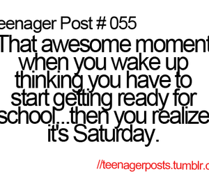 teenager post, quote, and saturday image
