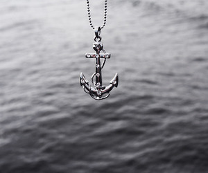 anchor, water, and necklace image