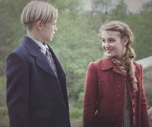 the book thief, liesel meminger, and rudy steiner image