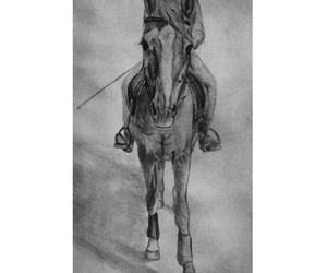 art, horse, and draw image