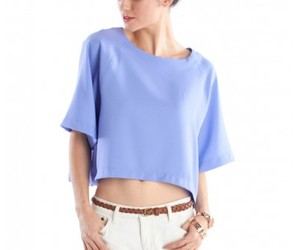 blouse, lilacroppedblouse, and everyday top image