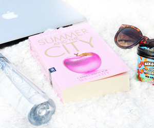 book, ice cream, and water image