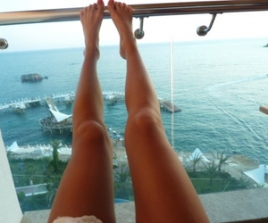 girl, summer, and legs image
