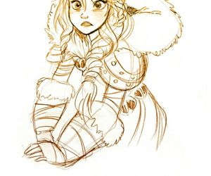 astrid, cute, and drawing image