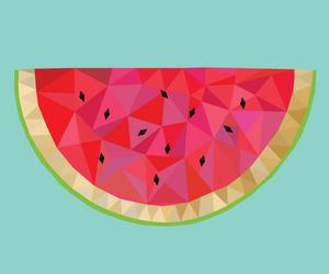 black, design, and watermelon image