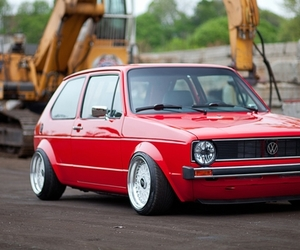 vw, lowered, and mk1 image