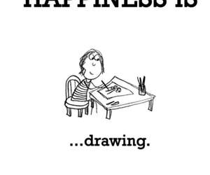 happiness is and drawing image