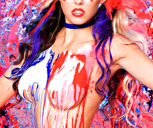 america, american flag, and bodypaint image