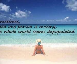 beach, person, and quotes image