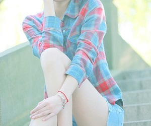 blue, girl, and photography image