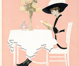 cover, flowers, and magazine image